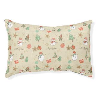 Christmas snowman pattern pet bed