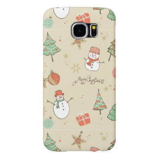 Christmas snowman pattern samsung galaxy s6 cases