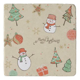 Christmas snowman pattern trivet