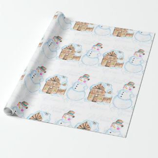 Christmas Snowman Pattern Wrapping Paper