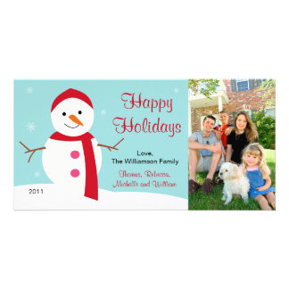 Christmas Snowman Photo Card 2011