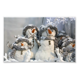 Christmas snowman photo enlargement