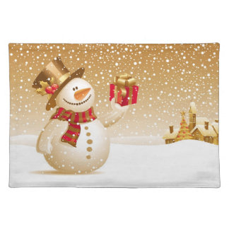 Christmas Snowman Placemate Placemat