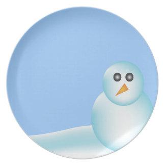 Christmas Snowman Plate