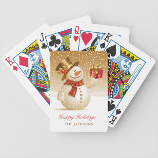 Christmas Snowman Playing Cards