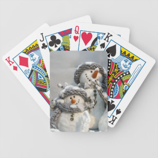 Christmas snowman poker deck
