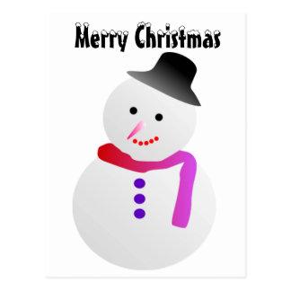 Christmas Snowman Postcard