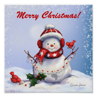 Christmas Snowman Poster - SRF