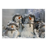 Christmas snowman posters