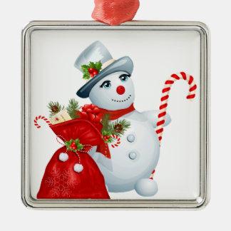 Christmas Snowman Premium Ornament