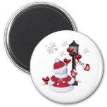 Christmas Snowman Refrigerator Magnet