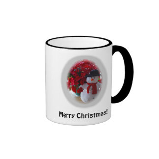 Christmas Snowman Ringer Mug