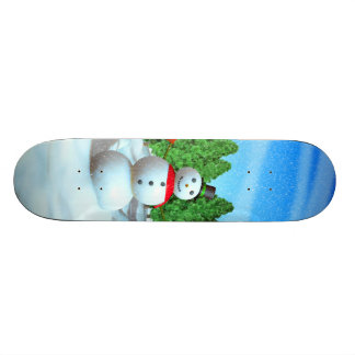 Christmas Snowman Skate Board Deck