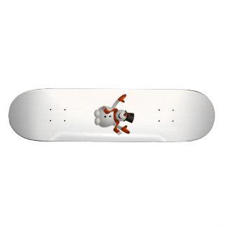 Christmas Snowman Skateboard