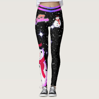 Christmas / Snowman / Snowflake on - (editable) Leggings