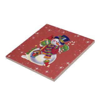 Christmas Snowman tile