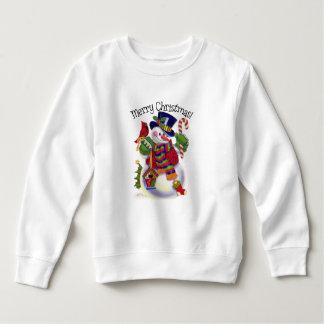 Christmas snowman toddler unisex sweatshirt