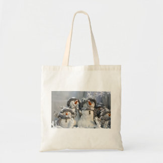 Christmas snowman tote canvas bags