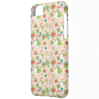 Christmas Snowman, Tree, Bell, and Present iPhone 5C Case