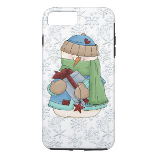 Christmas snowman white iPhone 7 plus case