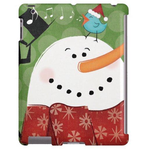 Christmas Snowman with Bird