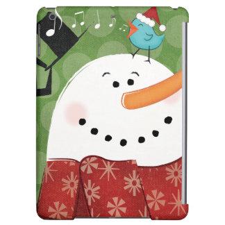 Christmas Snowman with Bird iPad Air Cover