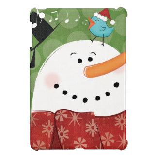 Christmas Snowman with Bird iPad Mini Cases