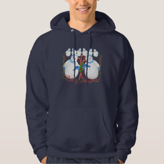Christmas Snowmen and Candy Canes Sweatshirt