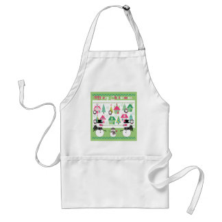 Christmas Snowmen and Village Aprons