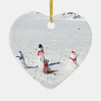 Christmas Snowmen Christmas Ornament