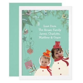 Christmas Snowmen Fun Novelty Photo Template Card