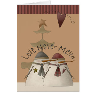 Christmas Snowmen Greeting Card