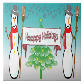 Christmas - Snowmen, Happy Holidays Tile