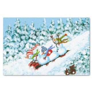 Christmas snowmen paper