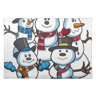 Christmas Snowmen Placemat