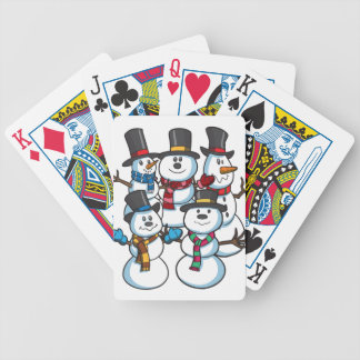 Christmas Snowmen Poker Deck
