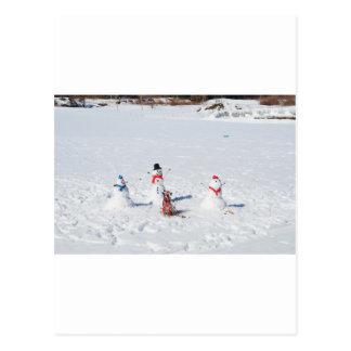 Christmas Snowmen Postcard