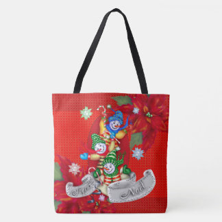 CHRISTMAS SNOWMEN TOTE CUTE CARTOON TOTE BAG 2