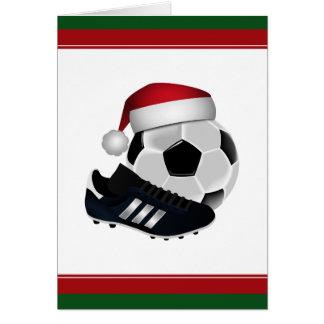 Christmas Soccer Ball and Shoe Card