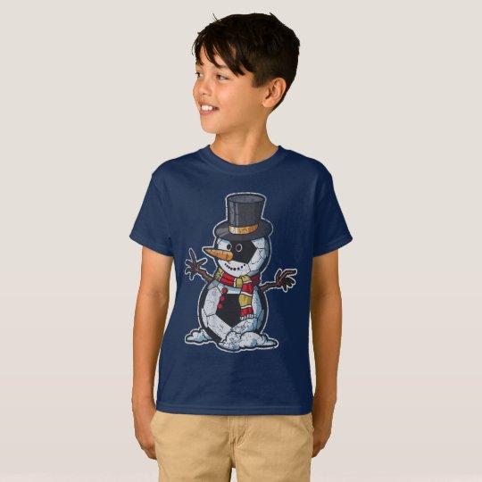Christmas Soccer Ball Snowman T-Shirt