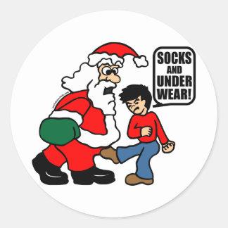 CHRISTMAS SOCKS AND UNDERWEAR STICKER