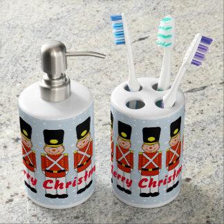Christmas Soldier Toothbrush Holder & Dispenser