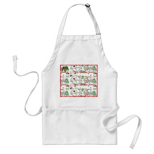 Christmas Somali Cats Apron