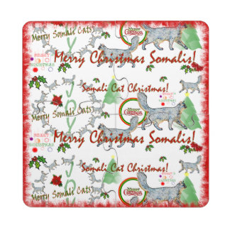 Christmas Somali Cats Coaster Puzzle Puzzle Coaster