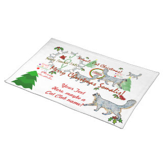 Christmas Somali Cats Placemat Cloth Placemat