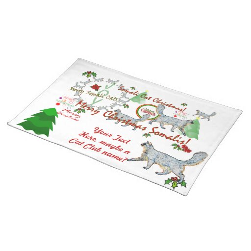 Christmas Somali Cats Placemat
