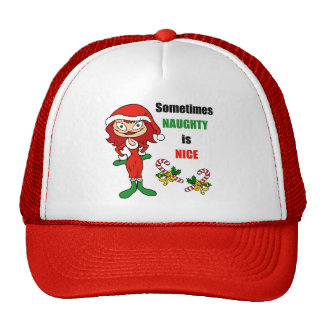 Christmas Sometimes Naughty Is Nice - Auburn Red Cap