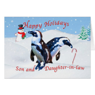 Christmas, Son and Daughter-in-law Greeting Card