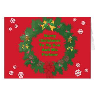Christmas Son & Partner Card
