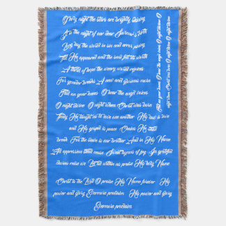 Christmas Song Lyric Oh Night Divine Throw Blanket